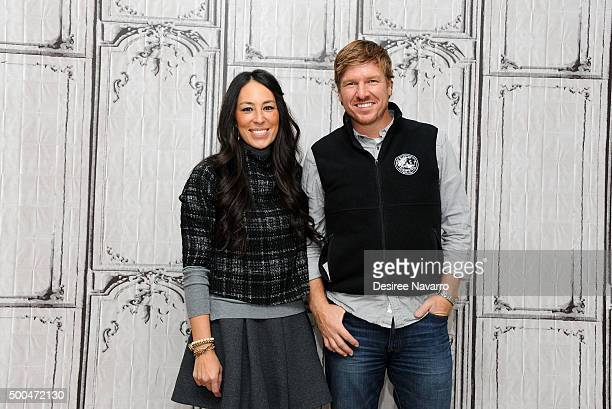 Designers Joanna Gaines and Chip Gaines attend AOL Build Presents 'Fixer Upper' at AOL Studios In New York on December 8 2015 in New York City