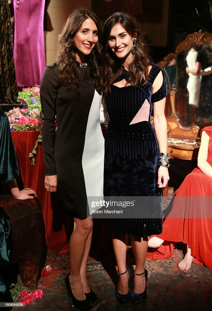 Designers Jodie Snyder and Danielle Snyder attend the Dannijo presentation during Fall 2013 MercedesBenz Fashion Week at The Jane Hotel on February 7...