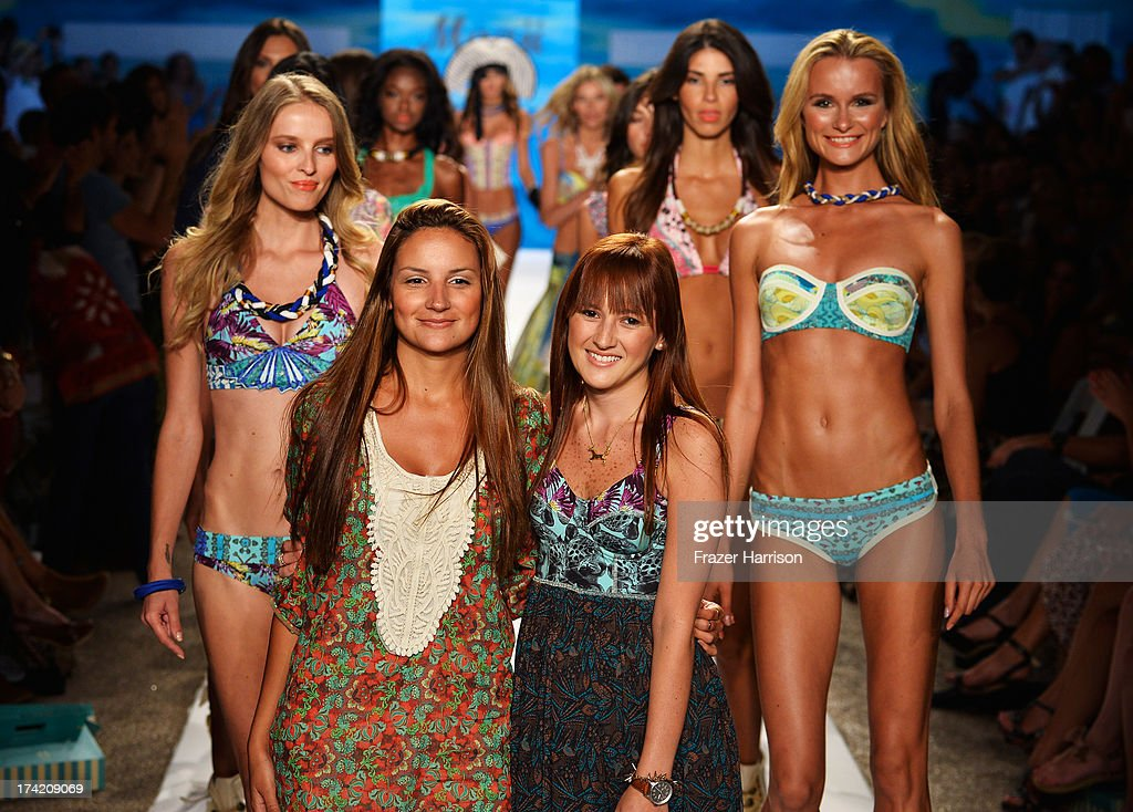 Designers Juliana Londono and Nani Valenzuela walk the runway at the Maaji Swimwear show during Mercedes-Benz Fashion Week Swim 2014 at Cabana Grande at the Raleigh on July 21, 2013 in Miami, Florida.
