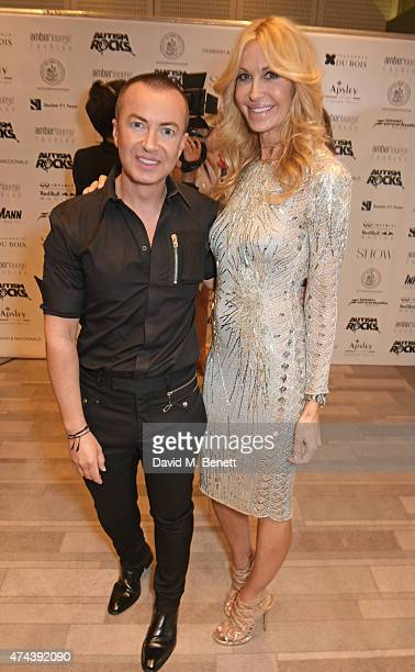 Designers Julien Macdonald and Melissa Odabash attend the Amber Lounge 2015 Gala at Le Meridien Beach Plaza Hotel on May 22 2015 in Monaco Monaco