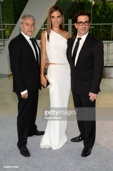 Designers Ken Kaufman and Isaac Franco pose with Alessandra Ambrosio attends 2013 CFDA Fashion Awards at Alice Tully Hall on June 3 2013 in New York...