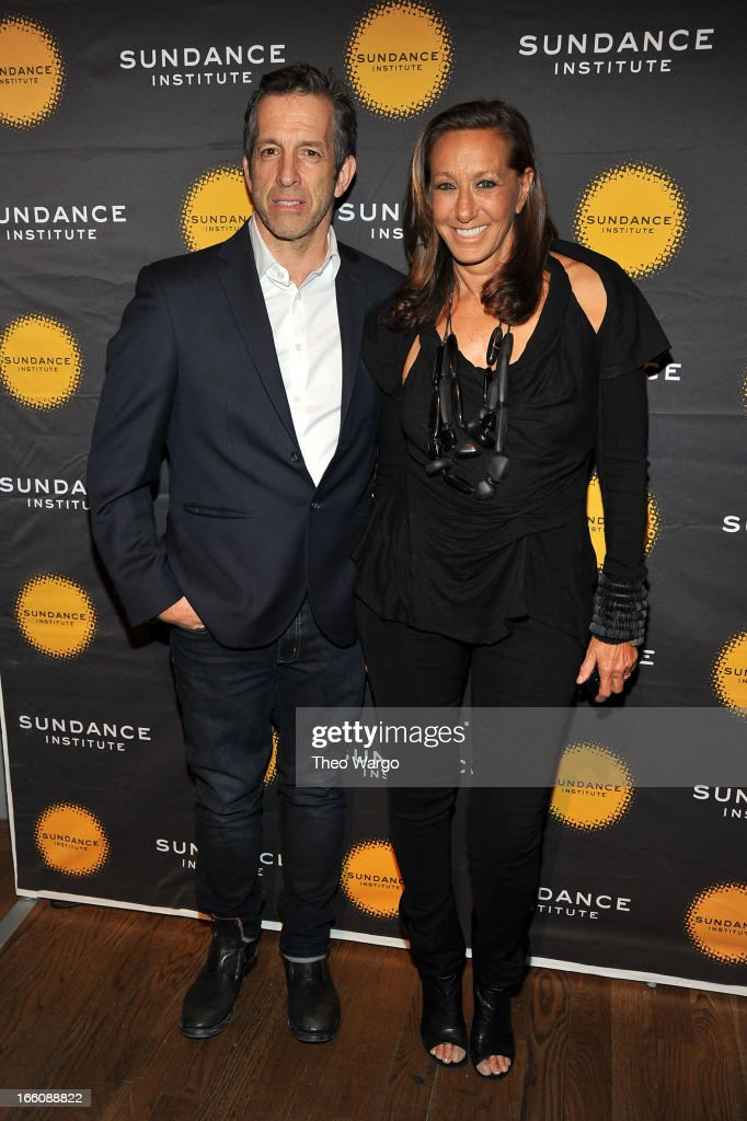 Designers Kenneth Cole and Donna Karan attend the Celebrate Sundance Institute benefit for its Theatre Program, supported by CÎROC Vodka at the Stephen Weiss Studio on April 8, 2013 in New York City.