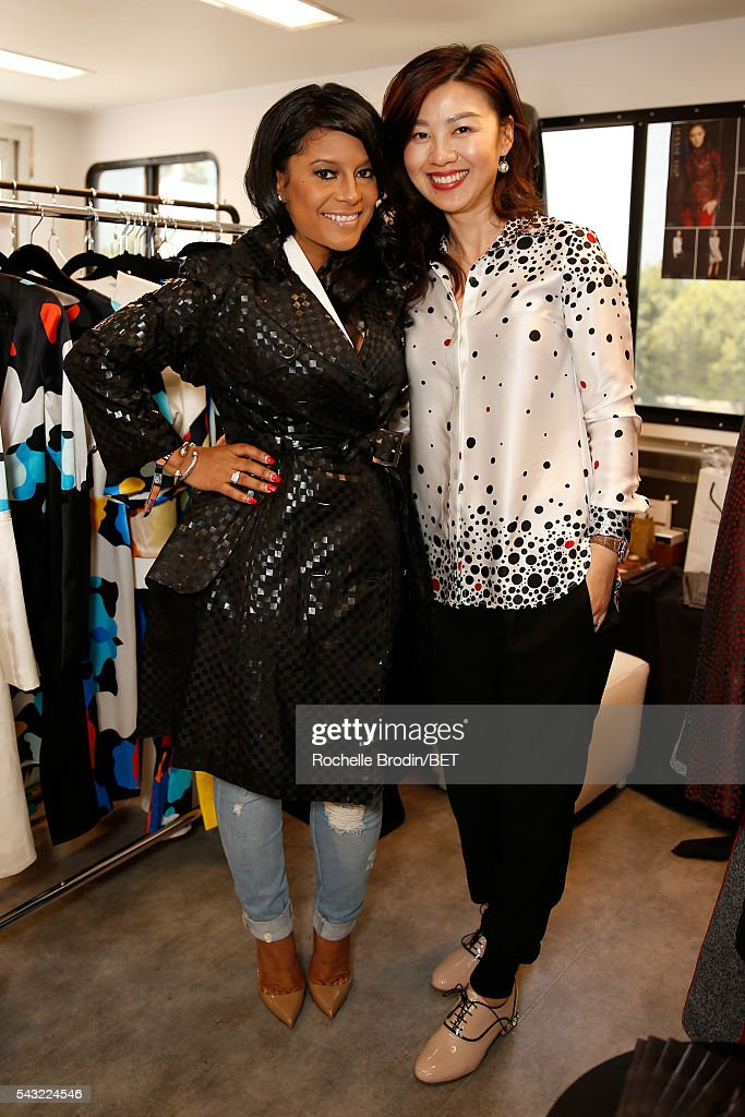 Designers Lisa Nicole Cloud (L) and Jessie Liu attend the BETX gifting suite during the 2016 BET Experience on June 26, 2016 in Los Angeles, California.
