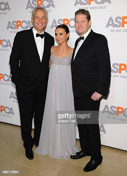 Designers Mark Badgley and James Mischka pose with Georgina Bloomberg during the ASPCA'S 18th Annual Bergh Ball honoring Edie Falco and Hilary Swank...