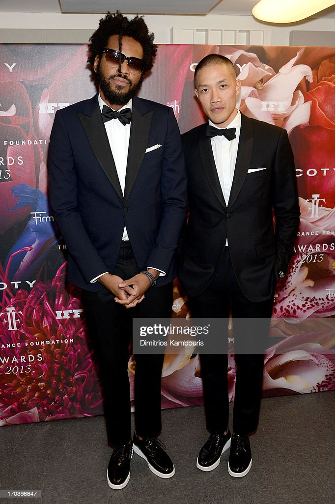 Designers Maxwell Osborne (L) and Dao-Yi Chow attend the 2013 Fragrance Foundation Awards at Alice Tully Hall at Lincoln Center on June 12, 2013 in New York City.
