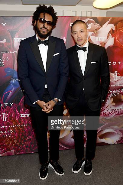 Designers Maxwell Osborne and DaoYi Chow attend the 2013 Fragrance Foundation Awards at Alice Tully Hall at Lincoln Center on June 12 2013 in New...