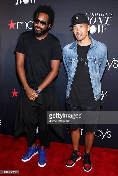 Designers Maxwell Osborne and DaoYi Chow of Public School attend Macy's Presents Fashion's Front Row on September 7 2016 in New York City