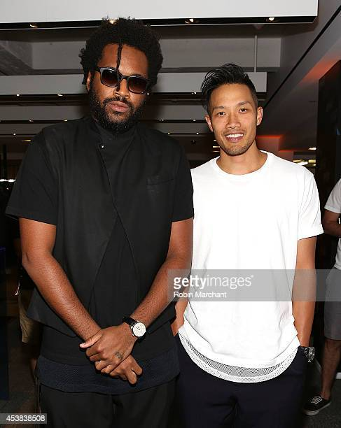 Designers Maxwell Osborne and DaoYi Chow of Public School attend the Westbrook XO Barneys New York Limited Edition Collection Launch Celebration at...