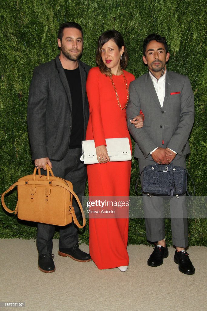 Designers Mike Feldman and Jason Jones of Parabellum attend CFDA and Vogue 2013 Fashion Fund Finalists Celebration at Spring Studios on November 11, 2013 in New York City.