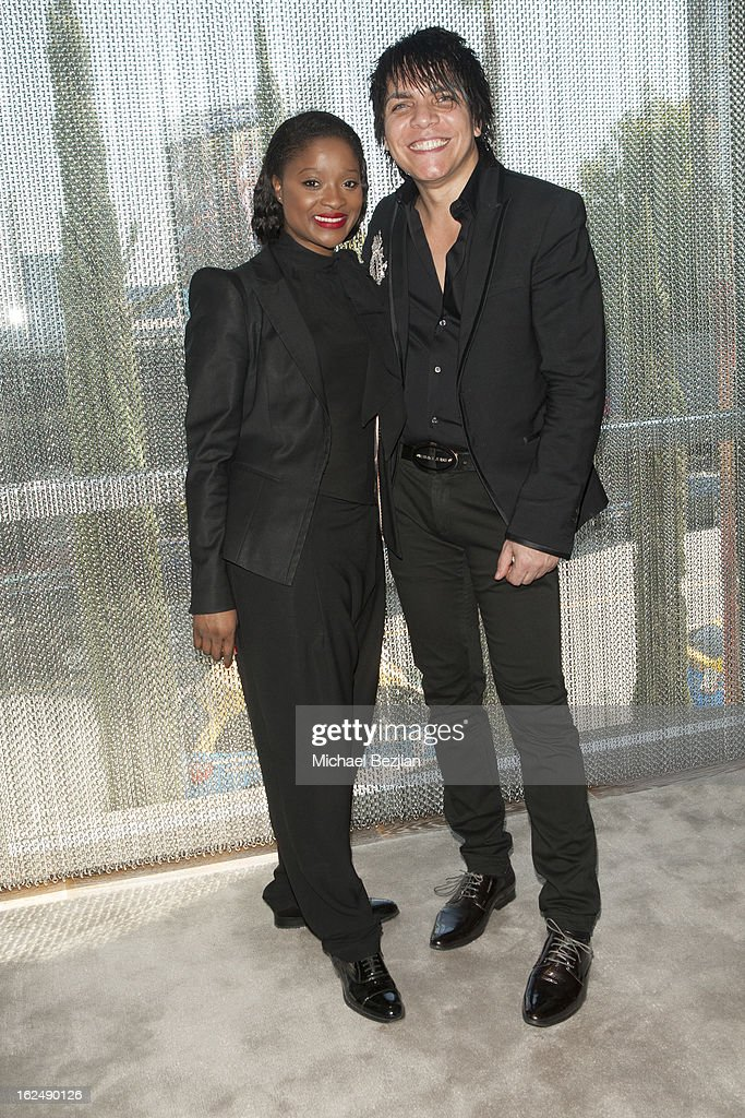 Designers Nabil Hayari and Clarisse Hieraix attend Le Lounge on February 22, 2013 in Los Angeles, California.