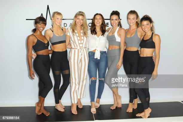 Designers Natasha Oakley and Devin Brugman pose with models at the Monday Active Fashion Presentation May 2017 The Retreat Athleisure Experience...