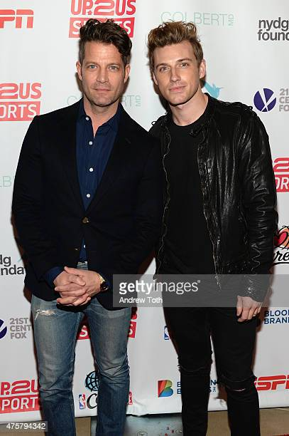 Designers Nate Berkus and Jeremiah Brent attend the 2015 Up2Us Sports Gala at The IAC Building on June 3 2015 in New York City