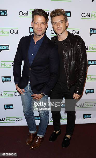 Designers Nate Berkus and Jeremiah Brent attend the Bravo Presents a special screening of 'Odd Mom Out' at Florence Gould Hall on June 3 2015 in New...