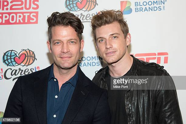 Designers Nate Berkus and Jeremiah Brent attend the Up2Us Sports Gala at IAC Building on June 3 2015 in New York City