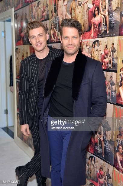 Designers Nate Berkus and Jeremiah Brent attend Vanity Fair and Lancome Toast to The Hollywood Issue at Chateau Marmont on February 23 2017 in Los...