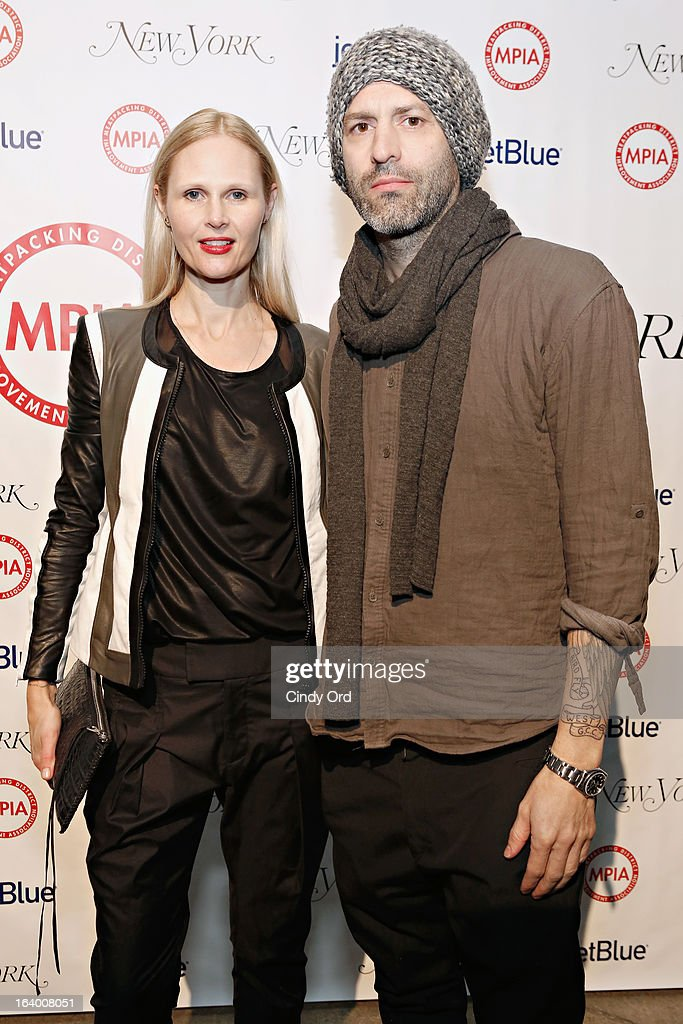 Designers Nicole Colovos and Michael Colovos attend the Meatpacking District Improvement Association first annual fundraiser OPEN MARKET at Highline Stages on March 18, 2013 in New York City.