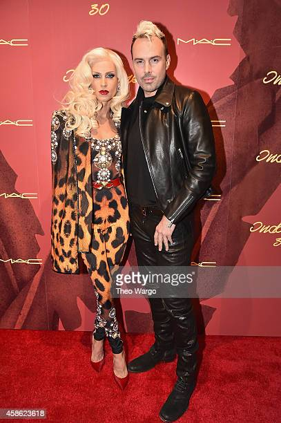 Designers Phillipe Blond and David Blond attend Indochine's 30th Anniversary Party at Indochine on November 7 2014 in New York City