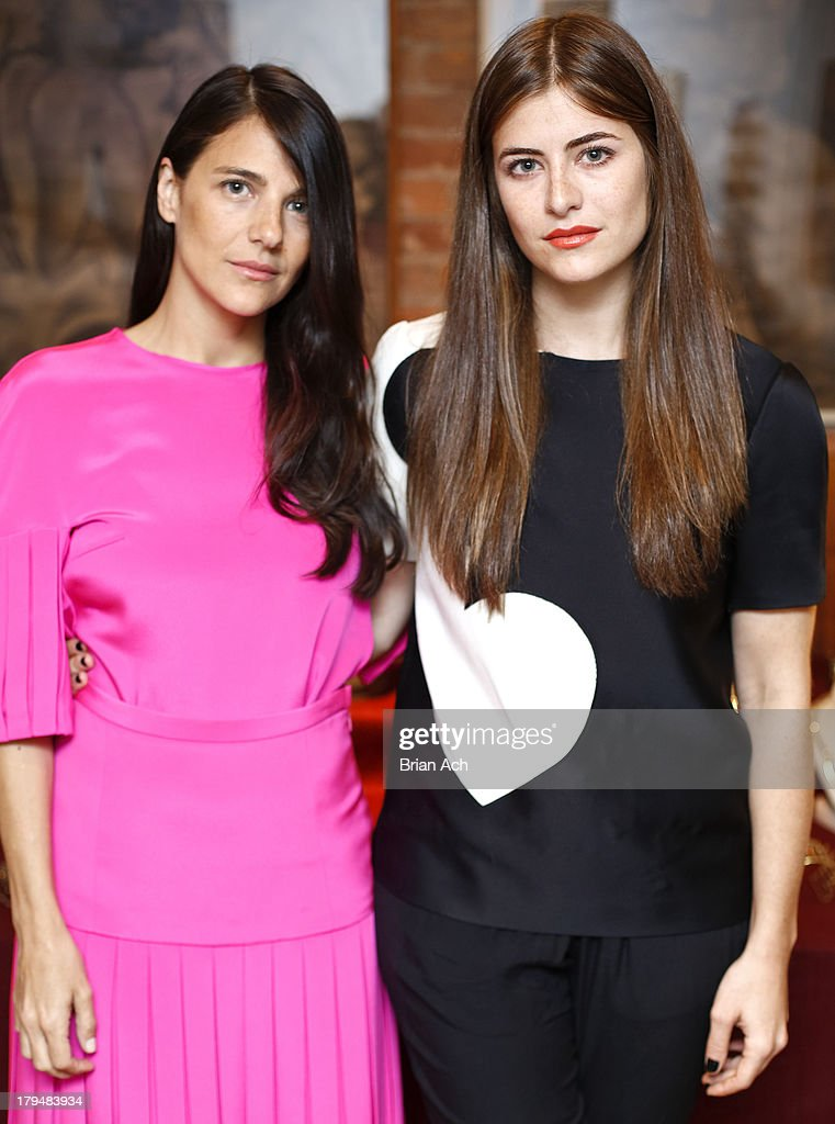 Designers Phoebe Stevens and Annette Stevens appear during the Anndra Neen presentation during Mercedes-Benz Fashion Week Spring 2014 at the Anndra Neen Atelier on September 4, 2013 in New York City.