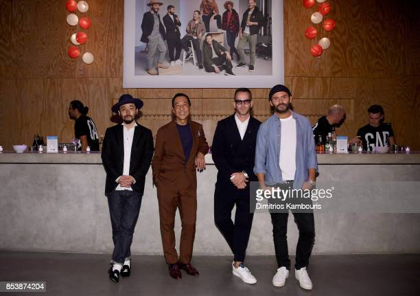 Designers Poggy Yasuto Kamoshita Jey Perie and Alexandre Mattiusi attend GQ x GAP Coolest Designers on the Planet 2017 at St Ann's Warehouse on...