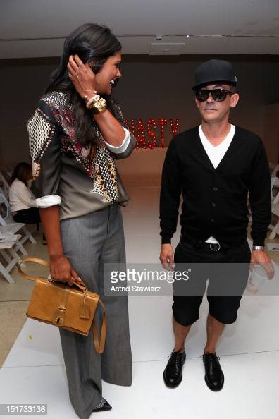 Designers Rachel Roy and Mark McNairy attend the Mark McNairy New Amsterdam Spring 2013 fashion show during MercedesBenz Fashion Week at New York...