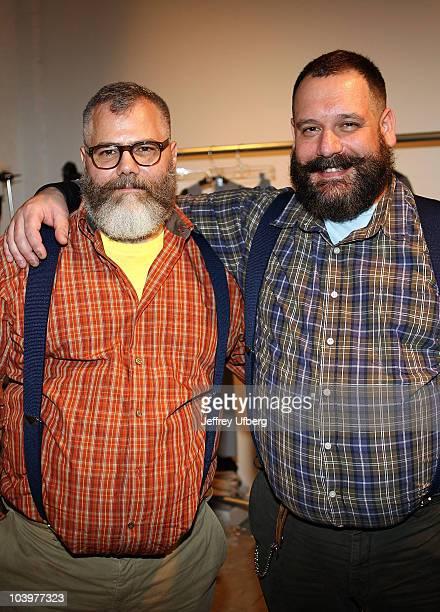 Designers Robert Tagliapietra and Jeffrey Costello attend the Costello Tagliapietra Spring 2011 fashion show during MercedesBenz Fashion Week at Milk...