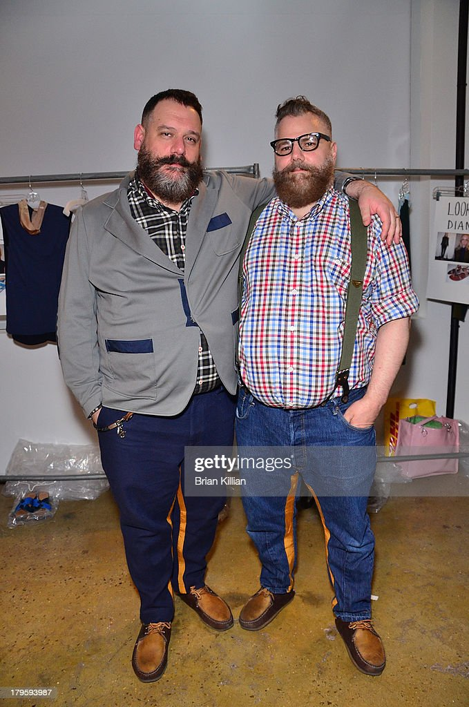 Designers Robert Tagliapietra and Jeffrey Tagliapietra attend the Costello Tagliapietra show during Spring 2014 MADE Fashion Week at Milk Studios on September 5, 2013 in New York City.