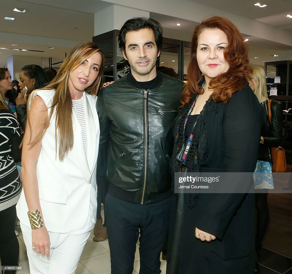 Designers Ronny Kobo Yigal Azrouel and Cynthia Vincent attend The Collective Launch Event at Bloomingdale's 59th Street Store on March 13 2014 in New...