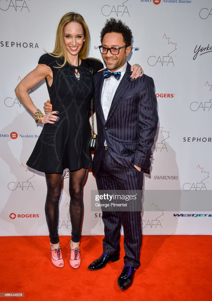 Designers Ruth Promislow and Shawn Hewson arrive at the 1st Annual Canadian Arts and Fashion Awards at the Fairmont Royal York Hotel on February 1, 2014 in Toronto, Canada.