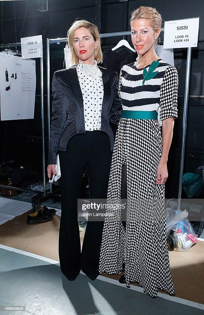 Designers Sarah-jane Clarke and <a gi-track='captionPersonalityLinkClicked' href=/galleries/search?phrase=Heidi+Middleton&family=editorial&specificpeople=212909 ng-click='$event.stopPropagation()'>Heidi Middleton</a> attend the Sass & Bide Show during Mercedes-Benz Fashion Week Fall 2014 at Classic Car Club on February 12, 2014 in New York City.