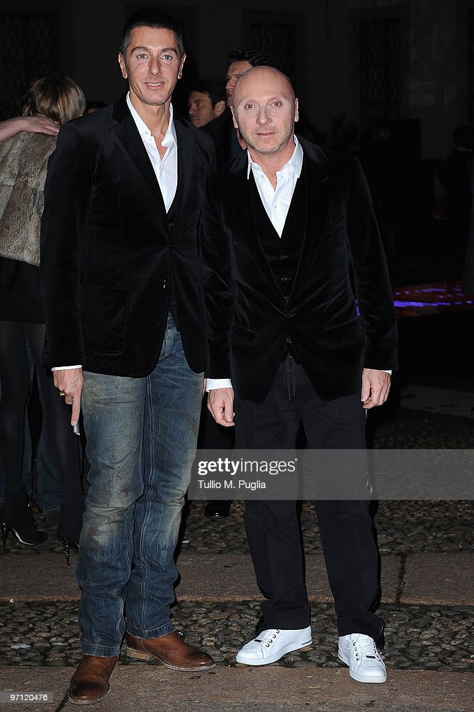 Designers Stefano Gabbana (L) and Domenico Dolce attend Vogue.it during Milan Fashion Week Womenswear Autumn/Winter 2010 on February 26, 2010 in Milan, Italy.