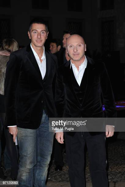 Designers Stefano Gabbana and Domenico Dolce attend Vogueit during Milan Fashion Week Womenswear Autumn/Winter 2010 on February 26 2010 in Milan Italy