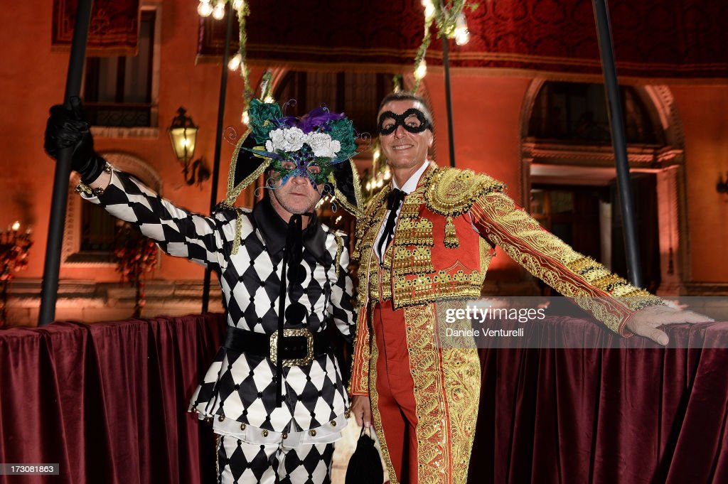 Designers Stefano Gabbana and Domenico Dolce attends the 'Ballo in Maschera' to Celebrate Dolce&Gabbana Alta Moda at Palazzo Pisani Moretta on July 6, 2013 in Venice, Italy.