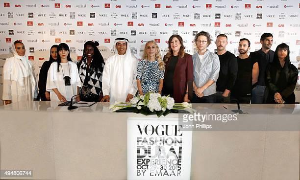 Designers The Kayys designer Melitta Baumeister designer Abrima Erwiah Emaar Chairman and founder Mohamed Alabbar Italian Vogue editorinchief Franca...
