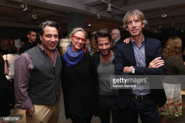 Designers Thom Filicia Ghislaine Vinas Nate Berkus and Francis D'Haene attendNew York Magazine and Dwell celebration of the opening of City Modern on...