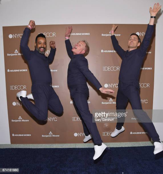 Designers Tom Blackie Carsten Klein and Henri Myers of Maison 10 attend Housing Works Design on a Dime Opening Night on April 27 2017 in New York City