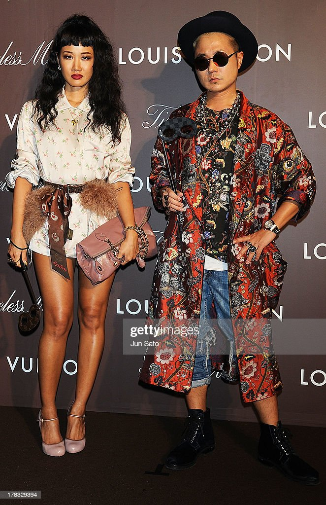 Designers Verbal and Yoon attend Louis Vuitton 'Timeless Muses' exhibition at the Tokyo Station Hotel on August 29, 2013 in Tokyo, Japan.