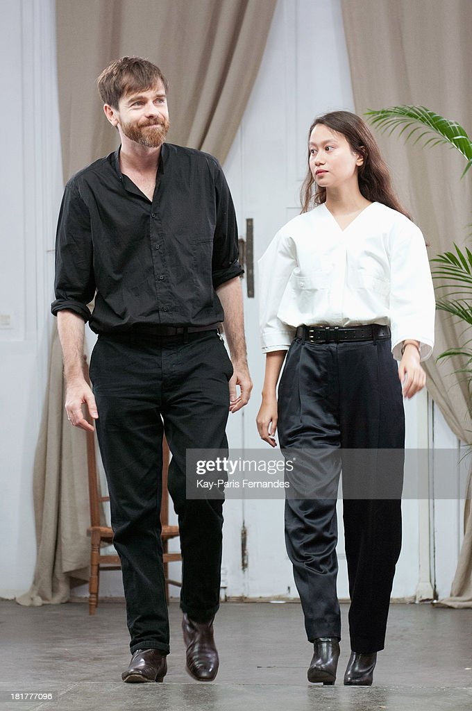 Designers walks the runway during Christophe Lemaire show as part of the Paris Fashion Week Womenswear Spring/Summer 2014 on September 25, 2013 in Paris, France.