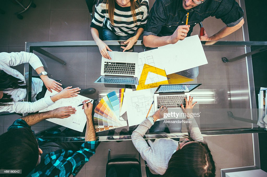 Designer's workplace : Stock Photo