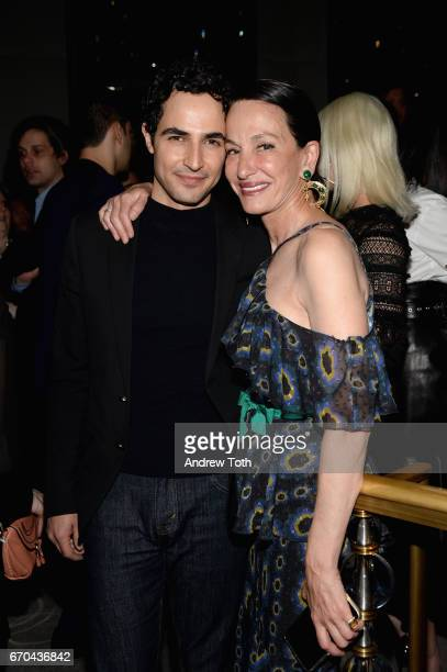 Designers Zac Posen and Cynthia Rowley attend Harper's BAZAAR 150th Anniversary Event presented with Tiffany Co at The Rainbow Room on April 19 2017...