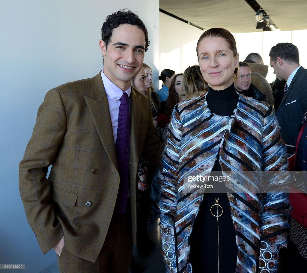 Designers Zac Posen (L) and Karla Otto attend Brooks Brothers F/W 2016 Presentation With Zac Posen on February 14, 2016 in New York City.