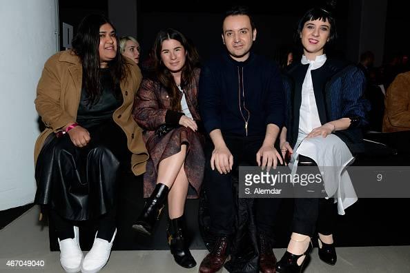 Designers Zeynep Tosun Bora Aksu and Merve Bayindir attend the MB Presents Gulcin Cengel And David Catalan show during Mercedes Benz Fashion Week...