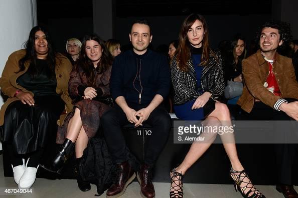 Designers Zeynep Tosun Bora Aksu Ece Sukan and guest attend the MB Presents Gulcin Cengel And David Catalan show during Mercedes Benz Fashion Week...