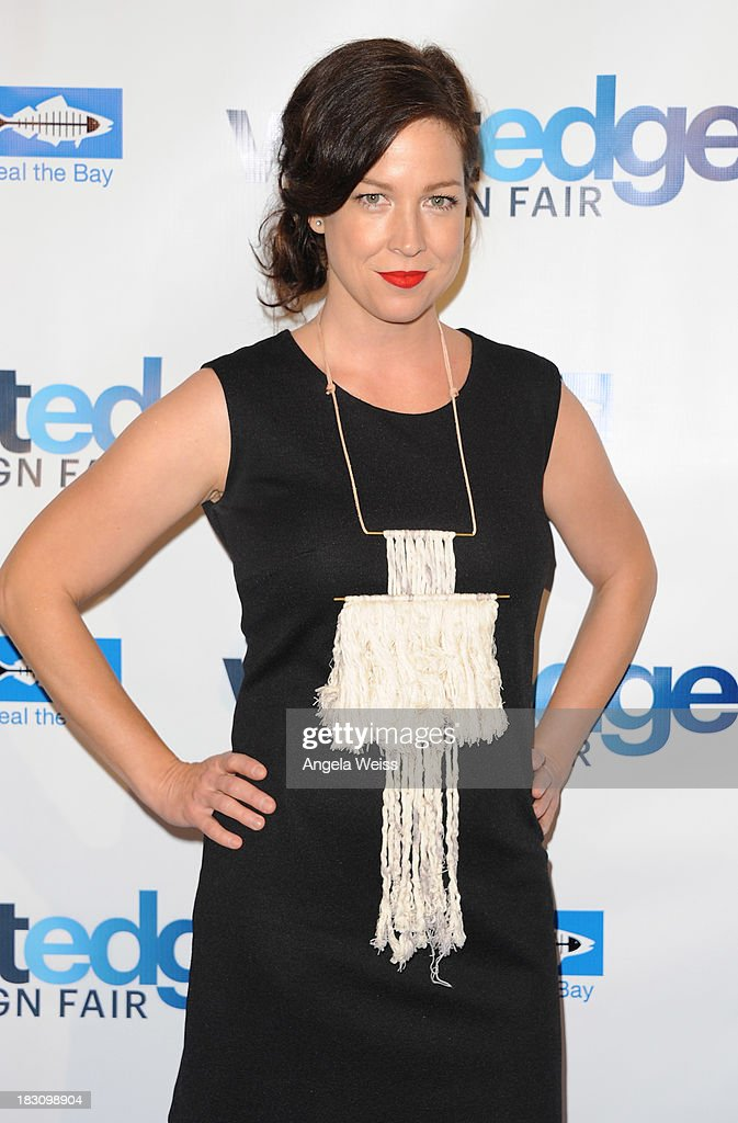 Designer/TV personality Amy Devers attends the WestEdge Design Fair opening night benefiting Heal the Bay at Barker Hangar on October 3, 2013 in Santa Monica, California.
