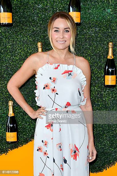 Designer/TV personality Lauren Conrad attends the Seventh Annual Veuve Clicquot Polo Classic at Will Rogers State Historic Park on October 15 2016 in...