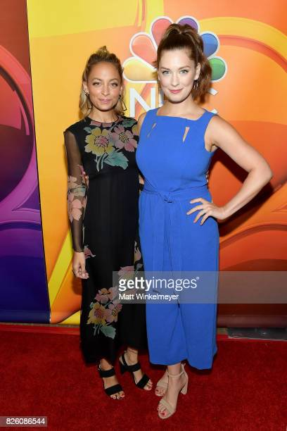 Designer/TV personality Nicole Richie and actor Briga Heelan at the NBCUniversal Summer TCA Press Tour at The Beverly Hilton Hotel on August 3 2017...