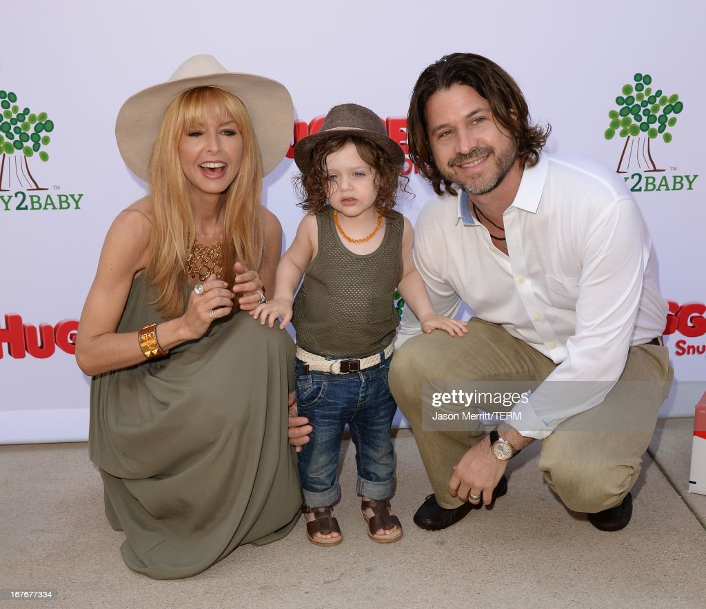 Designer/TV Personality Rachel Zoe, Rodger Berman (R), and son Skyler Berman attend the Huggies Snug & Dry and Baby2Baby Mother's Day Garden Party held on April 27, 2013 in Los Angeles, California.