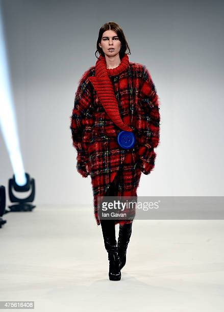 Designs by Anna Magdaleno of the Universidad CENTRO Mexico on day 4 of Graduate Fashion Week sponsored by George at Asda at The Old Truman Brewery on...