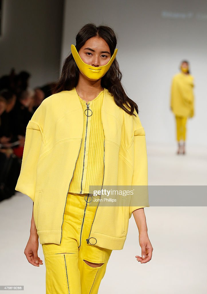 Designs by Bibiana P Colmenares of the Universidad CENTRO Mexico during the Samsonite International Catwalk Competition on day 4 of Graduate Fashion...