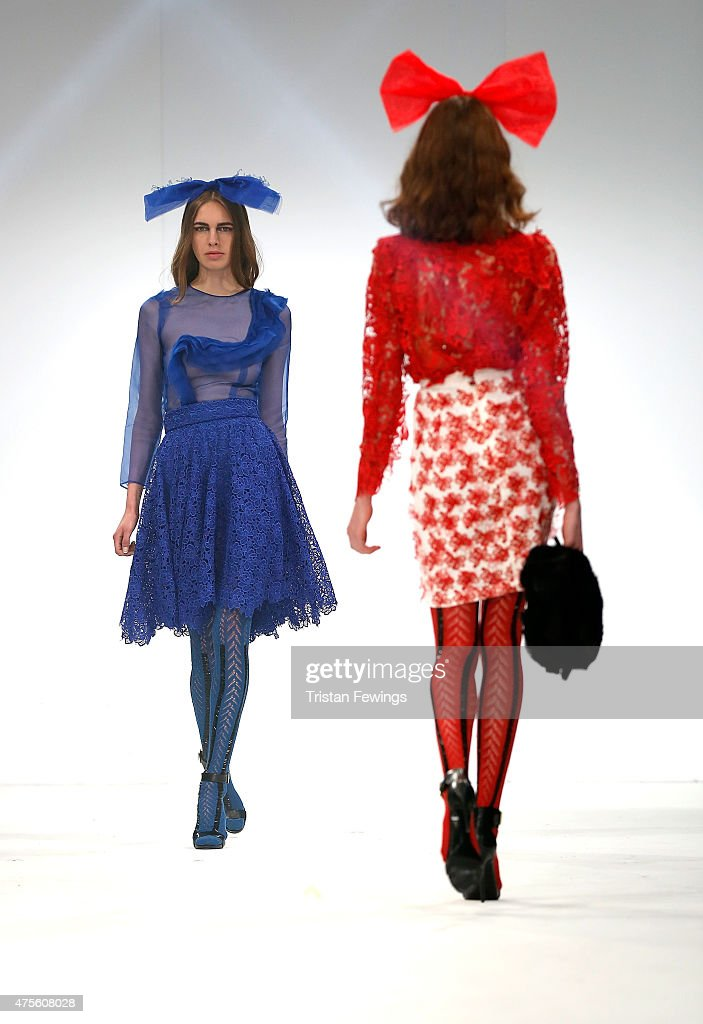 Designs by Dulce Maria Garcia of the Universidad CENTRO Mexico on day 4 of Graduate Fashion Week at The Old Truman Brewery on June 2 2015 in London...