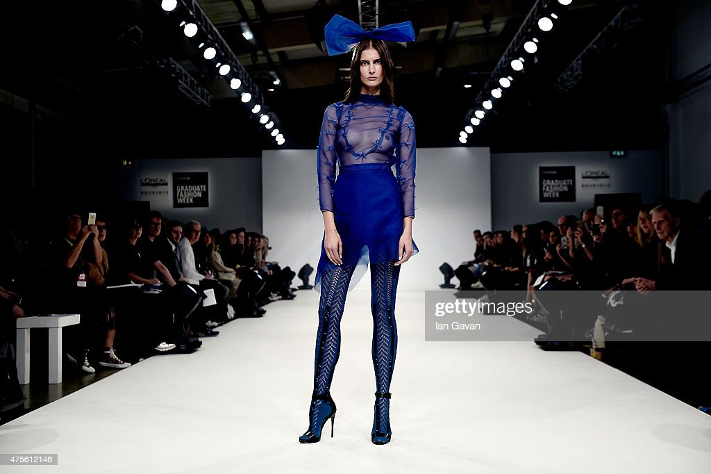 Designs by Dulce Maria Garcia of the Universidad CENTRO Mexico on day 4 of Graduate Fashion Week sponsored by George at Asda at The Old Truman...